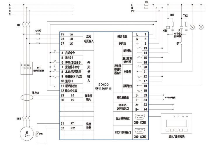 增强型sd600+直接启动模式接线图