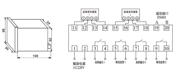 温湿度自动控制器-苏电电气-sd4e-9s4-sd4e